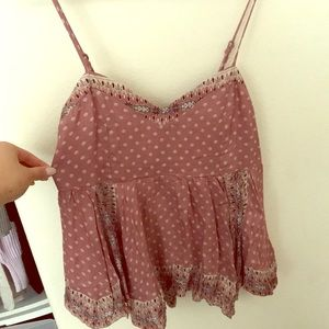 Cute cropped flowy polka dot top from Nordstrom